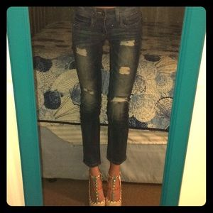 NWOT Cropped & Distressed Jeans